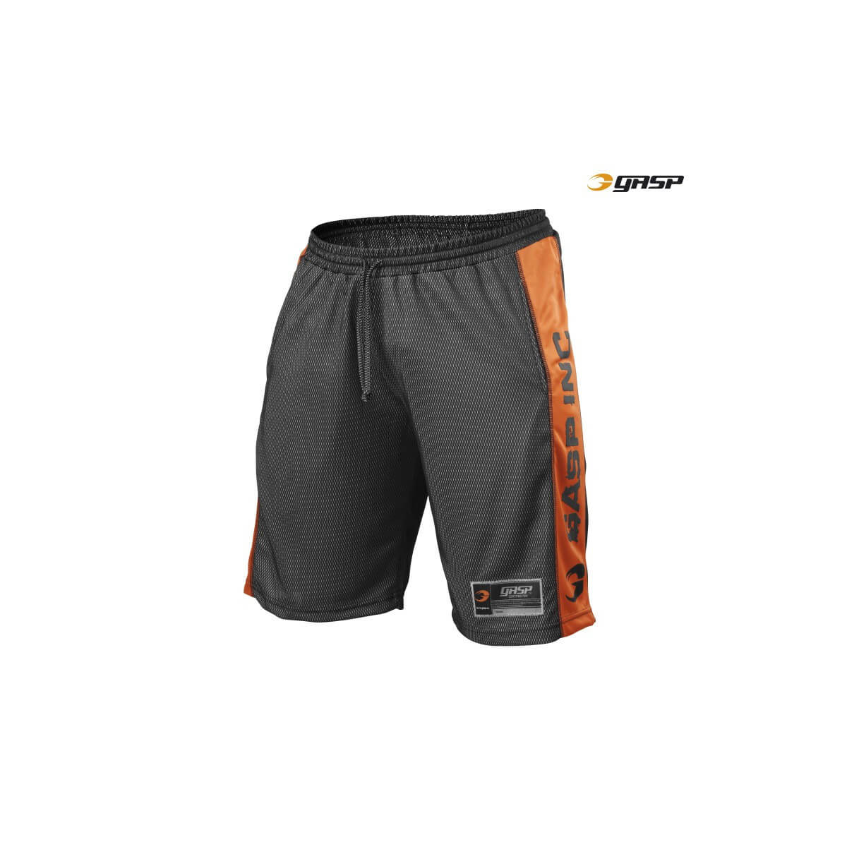 N01 MESH SHORT - Noir-Orange