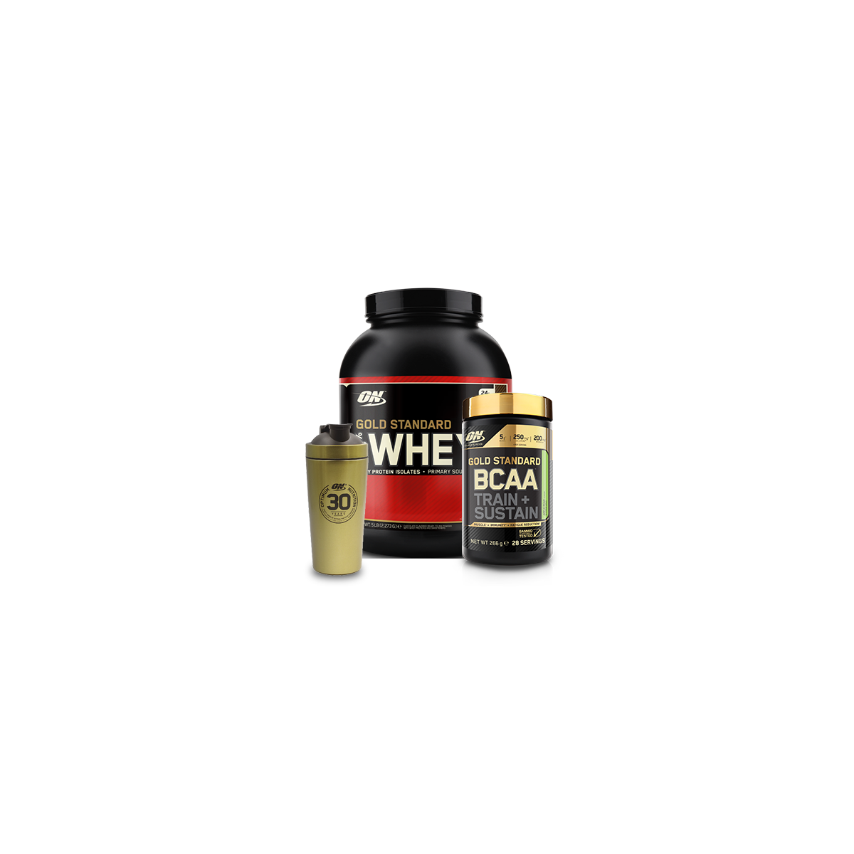 """Pack """"100% WHEY GOLD + GOLD STANDARD BCAA"""""""