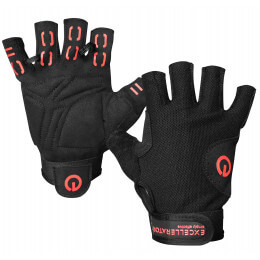 WEIGHTLIFTING GLOVES BLACK/RED