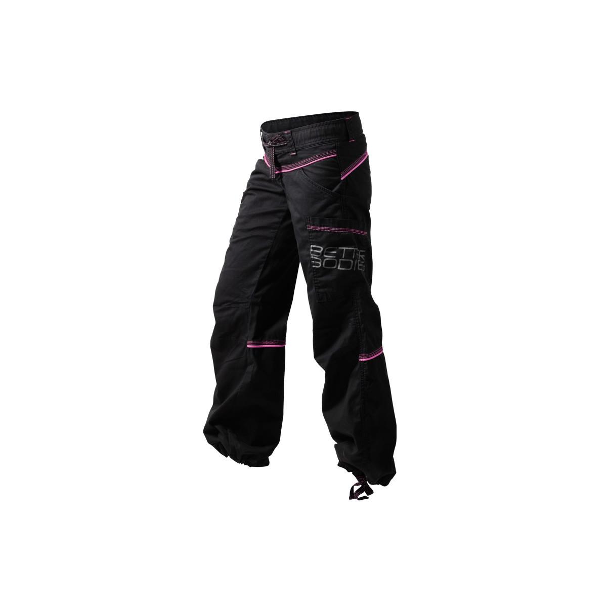 CONTRAST WINDPANT - Noir/Pink
