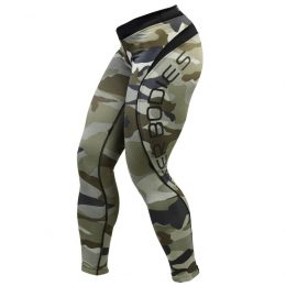 CAMO LONG TIGHTS - Kaki Camoprint