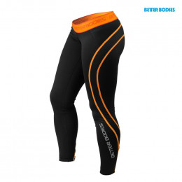 ATHLETE TIGHTS - Noir/Orange