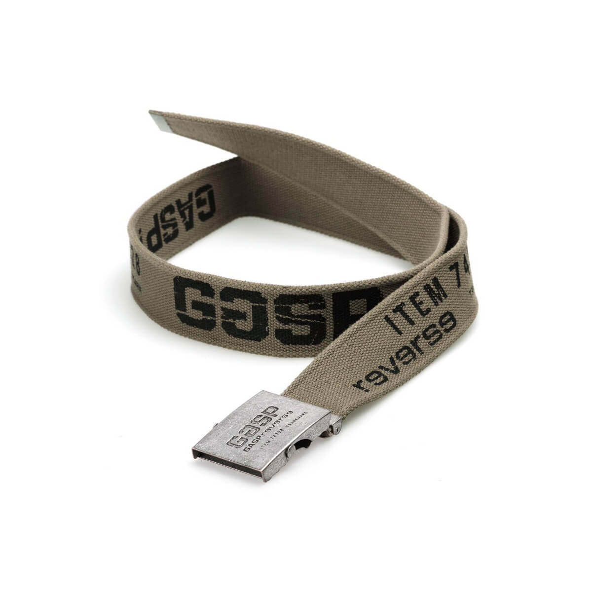 GASP VINTAGE BELT WASHED KHAKI