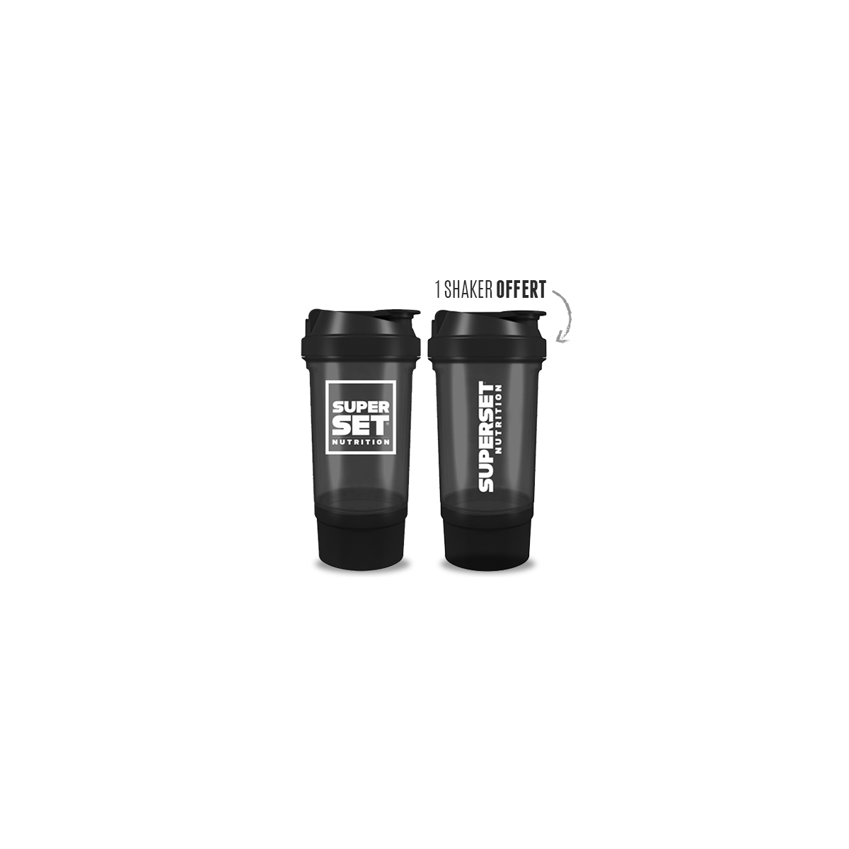 SHAKER (500ml) Superset Nutrition + 2eme Shaker