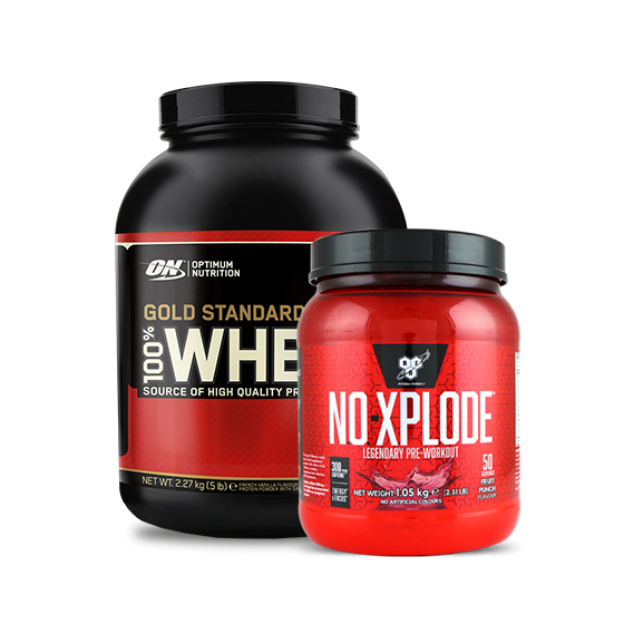 PACK WHEY GOLD 2.27KG + NO XPLODE