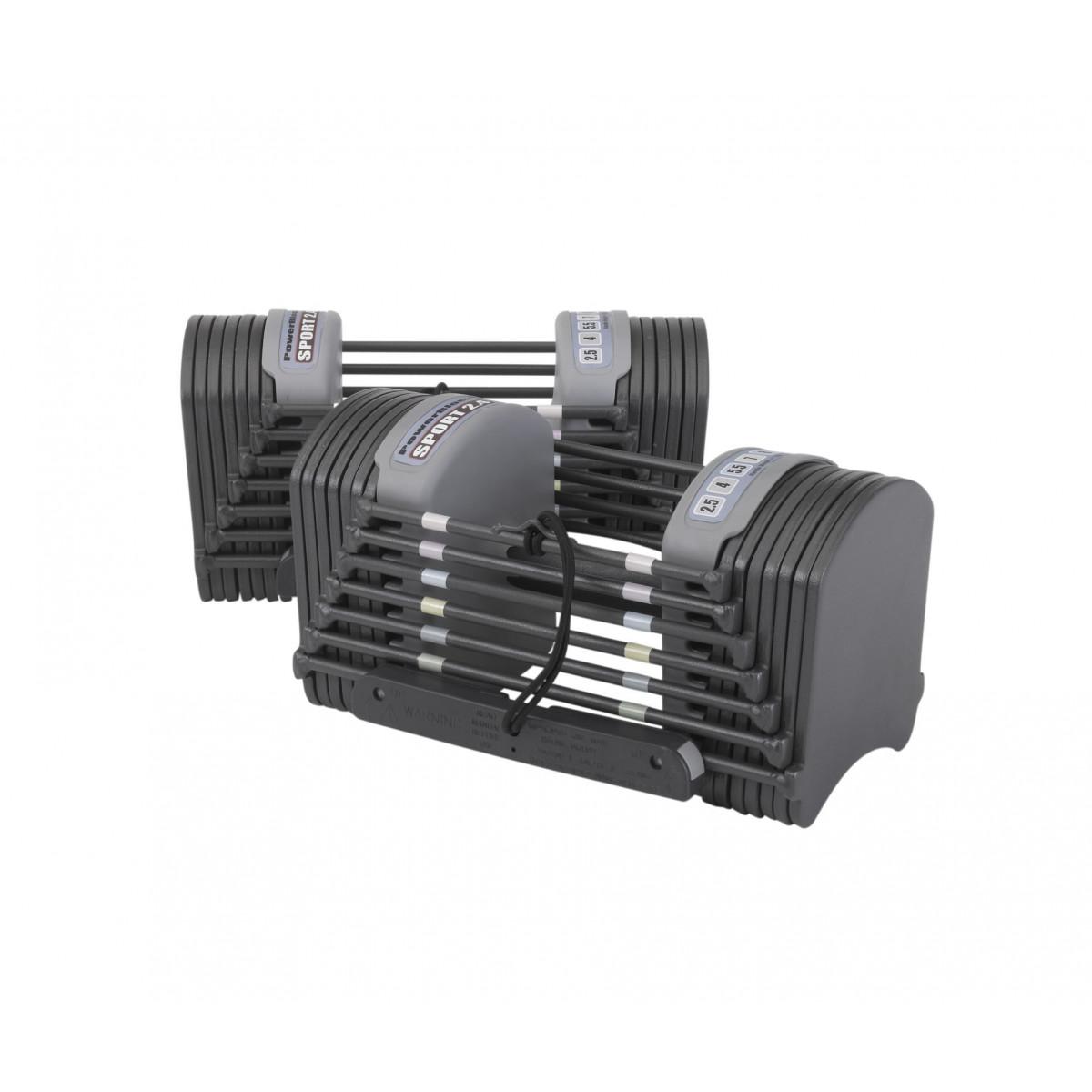 PowerBlock Sport 2.4 Adjustable Dumbbells - 1-11kgs