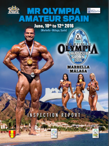 Affiche du concours Olympia amateur Espagne