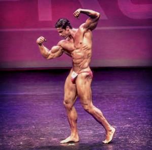 Loic Zine deuxième place à Musclemania
