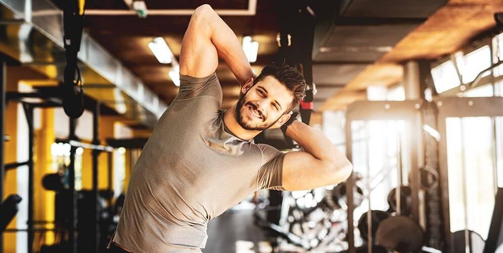 rozciągnij mięśnie, aby były tłuste
