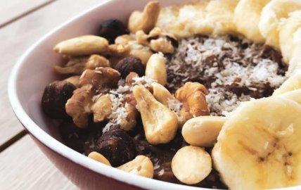 Porridge protéiné chocolat banane