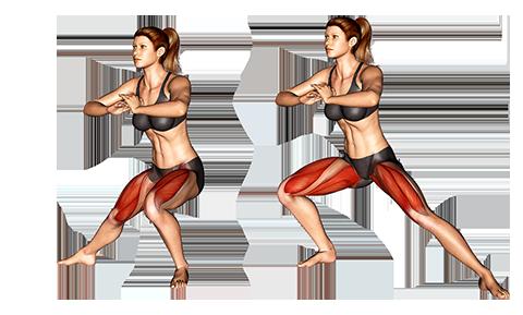 Picto ćwiczenia kobieta lonży po stronie