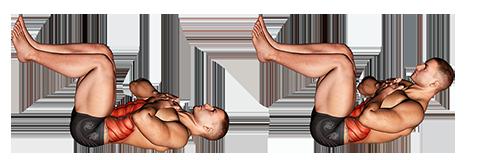 Piktogram ćwiczenia mężczyzna chrupać nogi pod kątem prostym