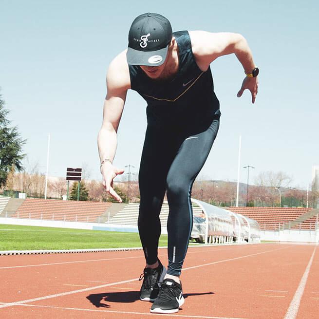 Antoine Lutrand sur la piste d'athlétisme