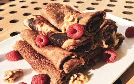 Crêpes protéinées vanille chocolat