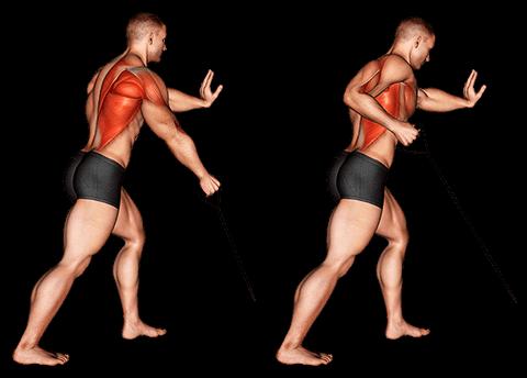 Rowing à un bras avec élastique