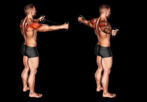 Szerokie ramiona z elastycznymi paskami
