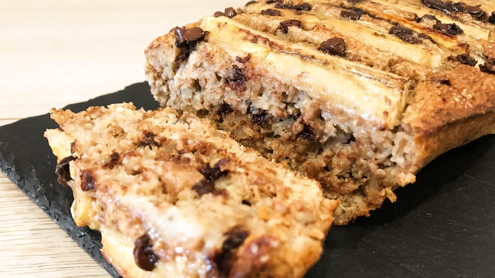 przepis na białkowy chleb bananowy