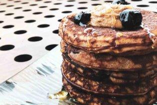Cherry protein pancakes