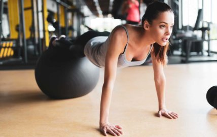 Programme renforcement avec ballon de fitness