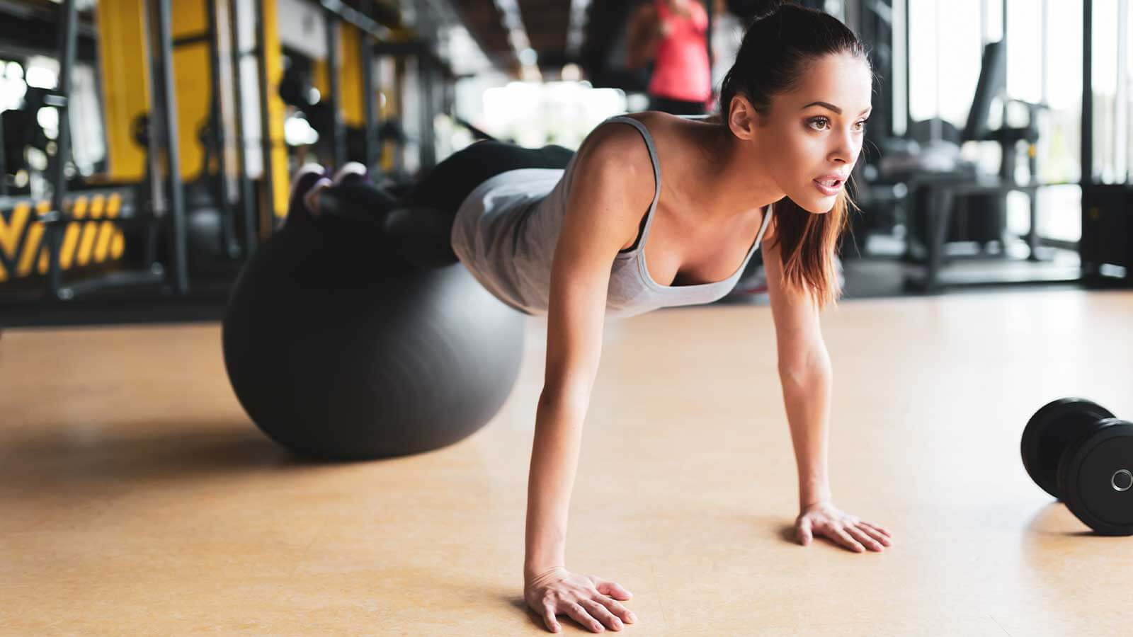Programme de renforcement au ballon de fitness
