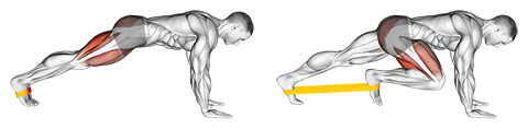 Resistance band plank march