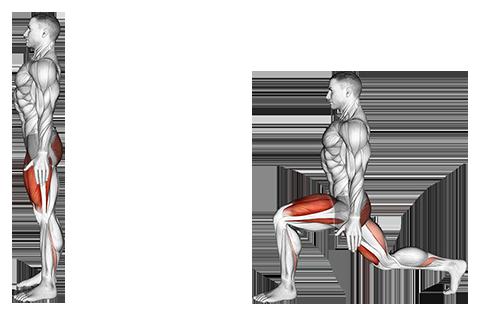 Bodyweight rear lunge