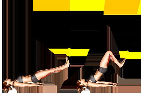Suspender straight hip Leg Curl