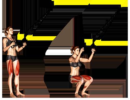 Suspender squat